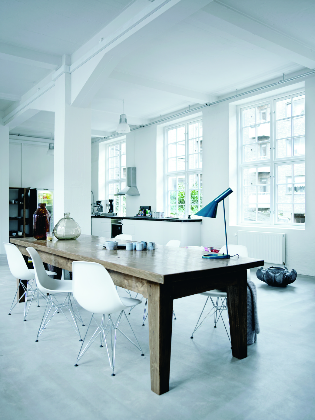 Clean whites and monochromes form the basis of the uncluttered Scandinavian style