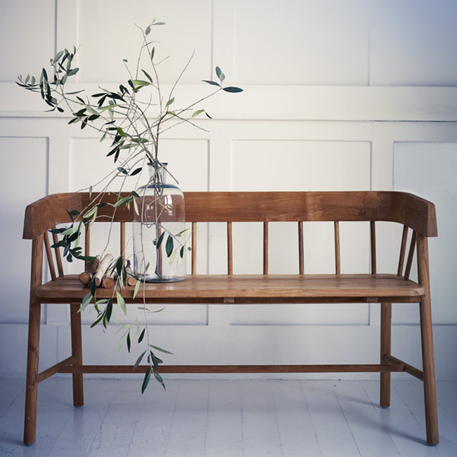 byron indoor outdoor bench from rowen and wren