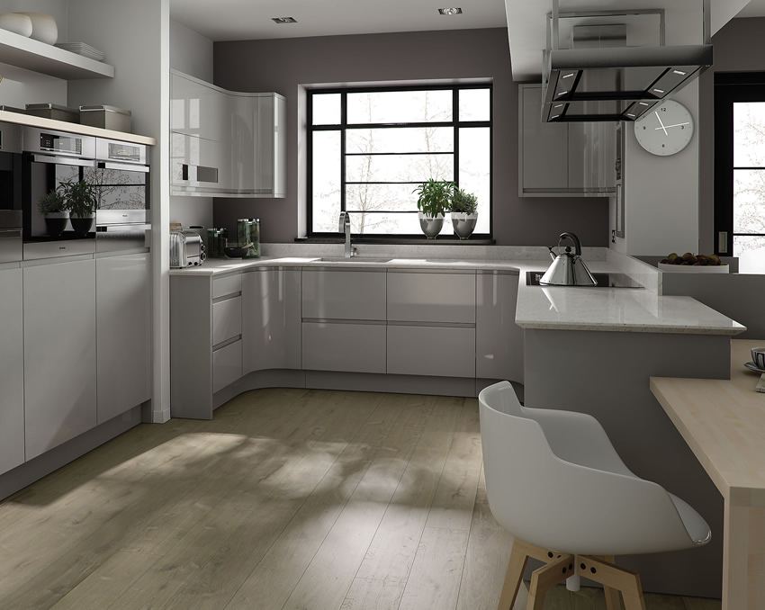 White And Light Grey Kitchen mad about grey kitchens