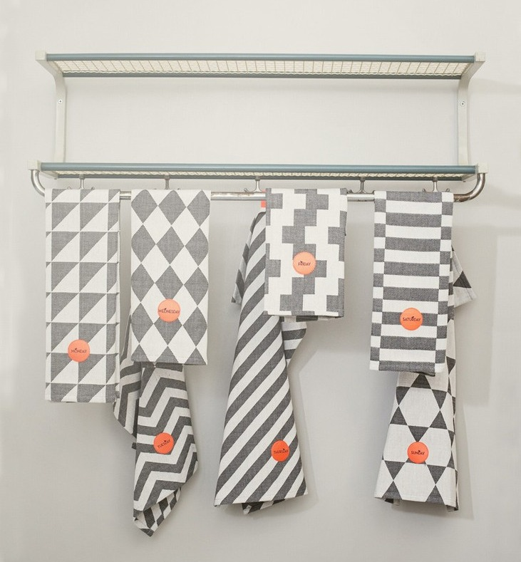 day of the week tea towels from fermliving
