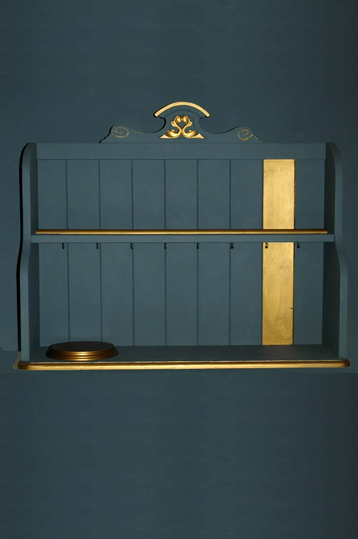 Objects Of Design #143: Grey And Gold Shelves