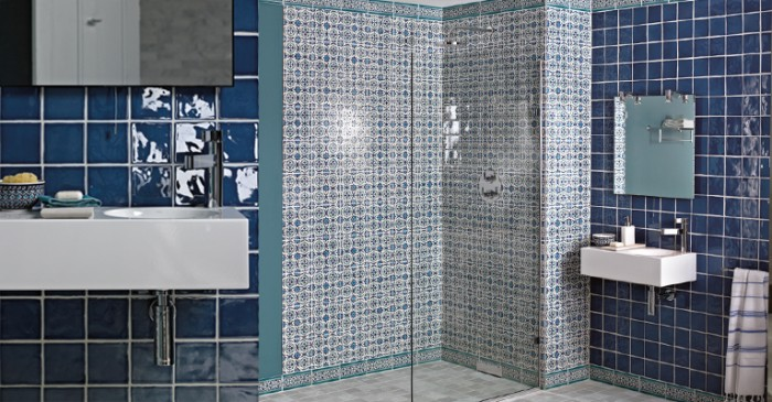 Beautiful Marrakech Base Tiles Shown With Targa Decor Tiles From Fired Earth