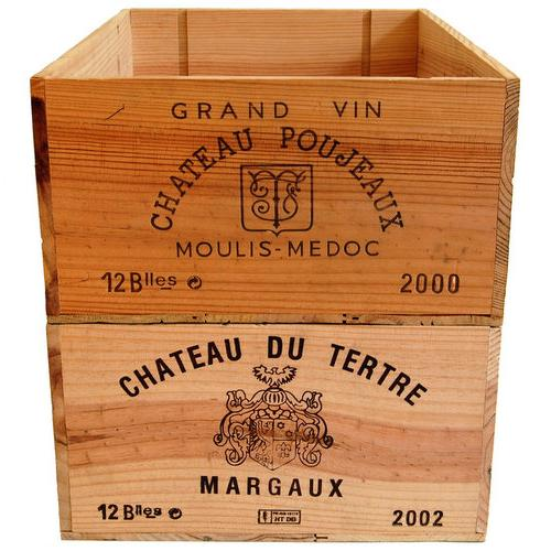vintage wooden wine crates around £15 from the wonderful wood company