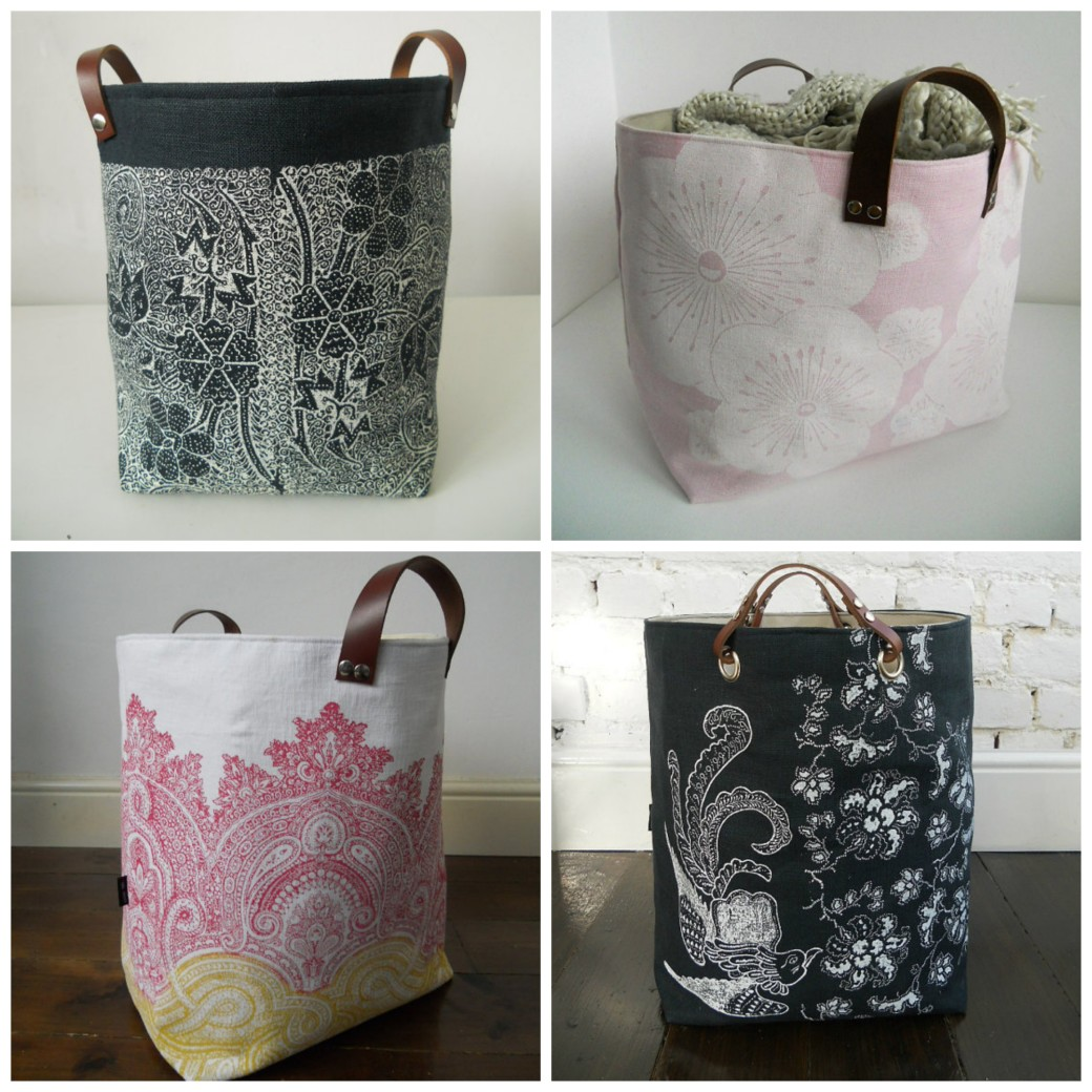 handmade storage bags by papatotoro from etsy