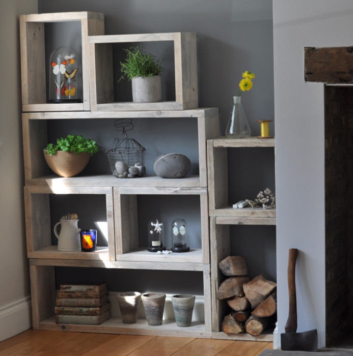 Reclaimed Wood Vintage Box Shelves - Mad About The House