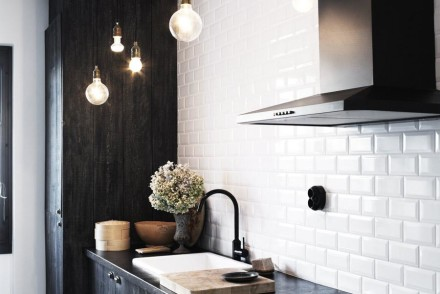 black kitchen from paperblog.fr
