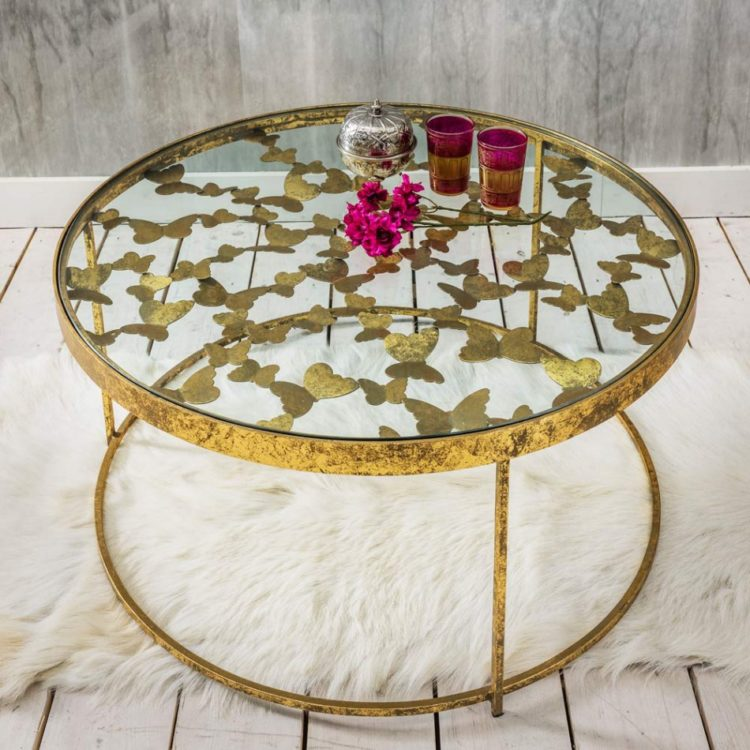 gold butterfly coffee table from graham and green