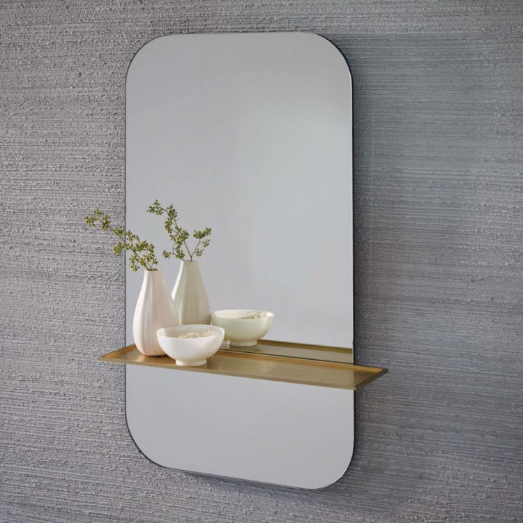 mirror with brass shelf mad about the house
