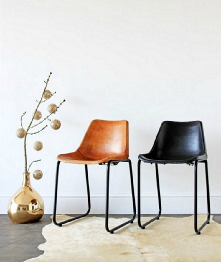 industrial leather chairs