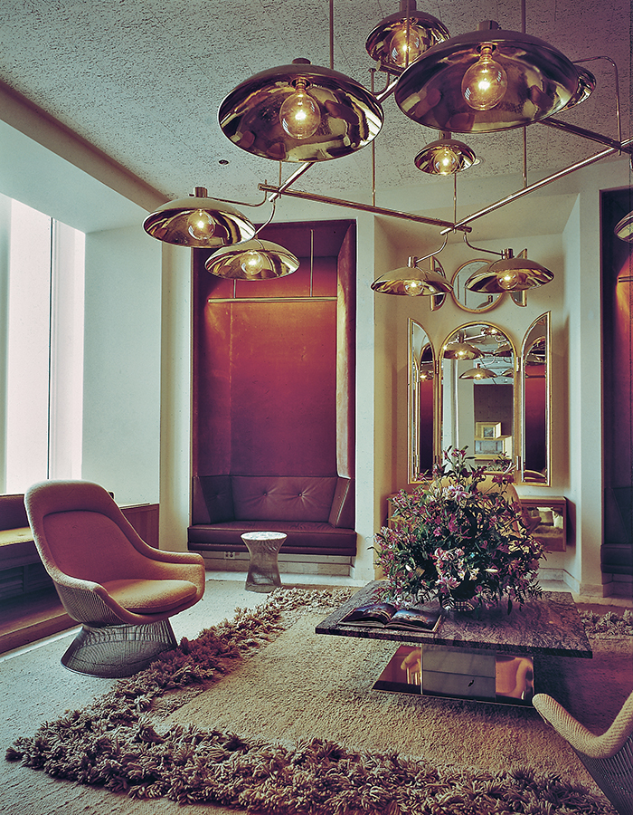 The Windows on the World reception room, designed by Warren Platner in 1976. Photograph courtesy of the Nestlé Library