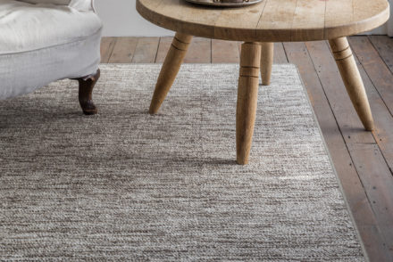 barefoot ashtanga silk rug from alternative flooring