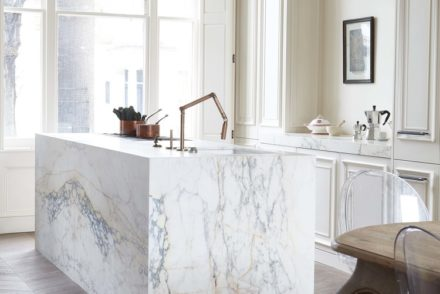 marble island and parquet floor by blakes london