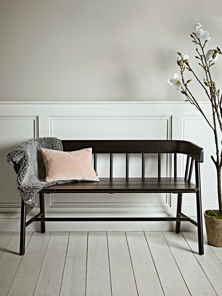 black bench from cox and cox