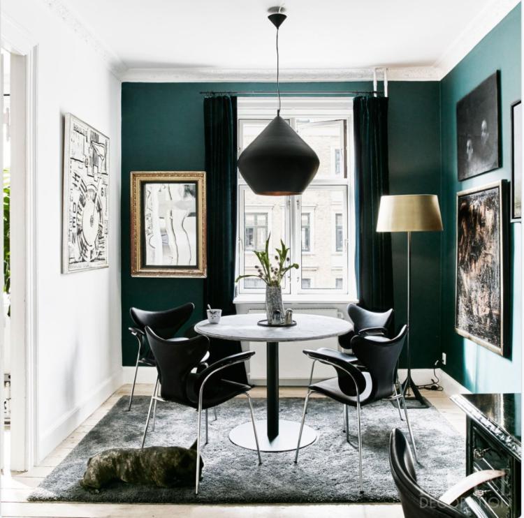 green walls via elle decoration uk