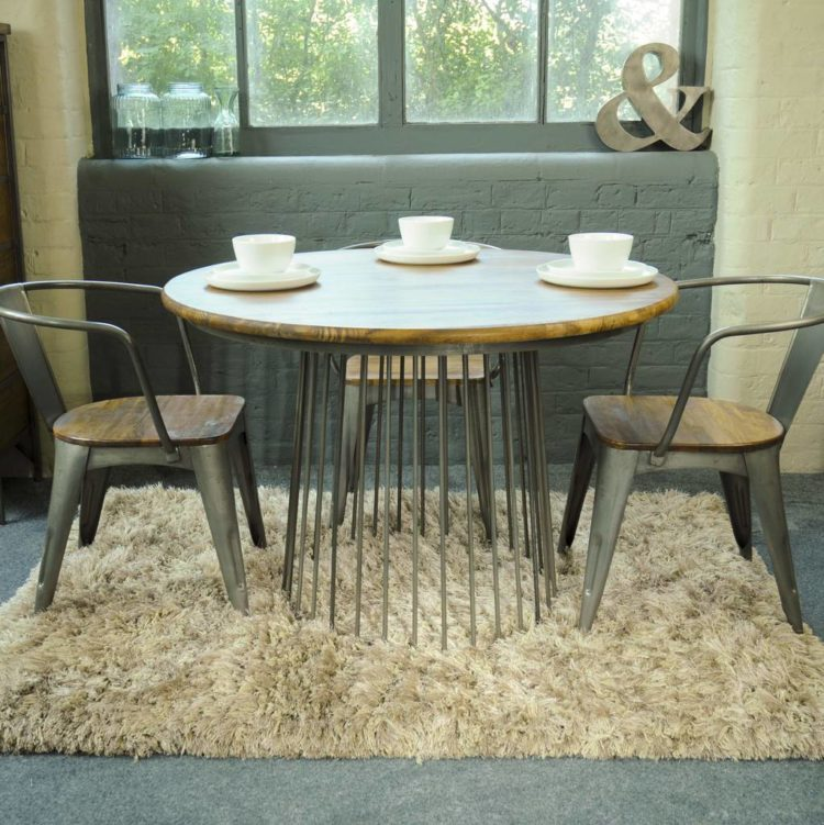 metal cage round dining table from the orchard furniture