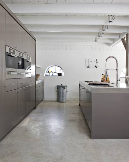 poured concrete flooring. Image from kitchenbuilding.com