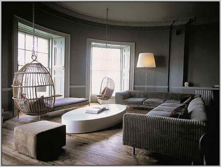 grey paint living room. Dark grey walls will make for a dramatic and cosy space  add reclaimed floorboards choosing the right shade of paint