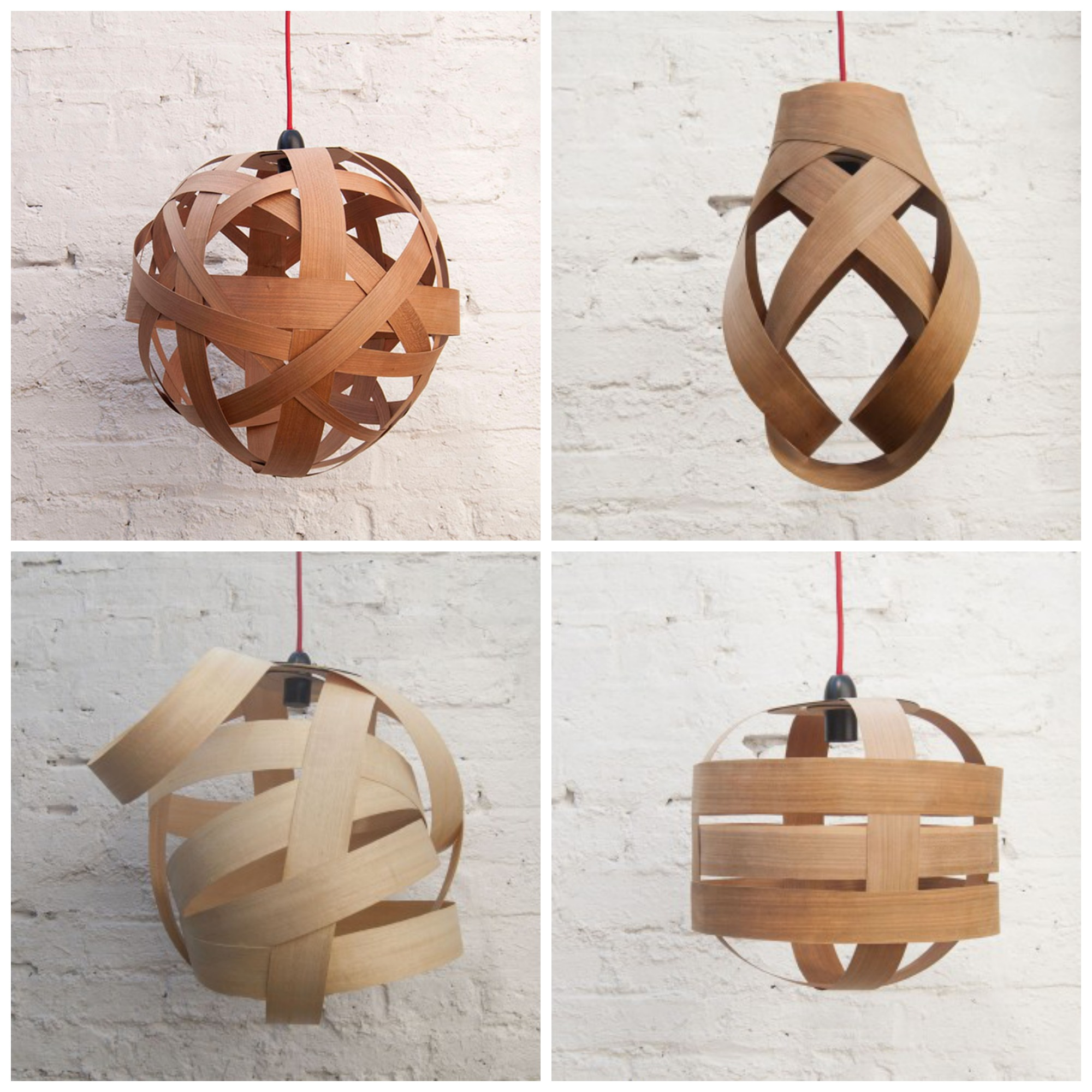 Objects of design wooden lampshades pendants from randomlights aloadofball Gallery