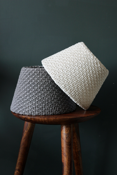 Grey Knitted Lampshades From Rockett St George