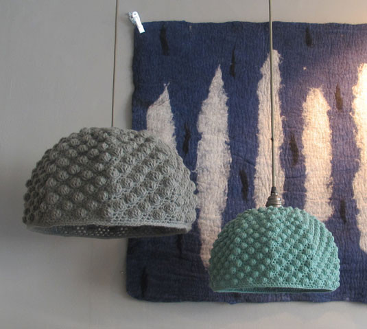 knitted lampshade from hollyshouse