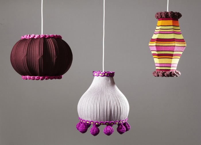 knitted lampshades by deryn relph