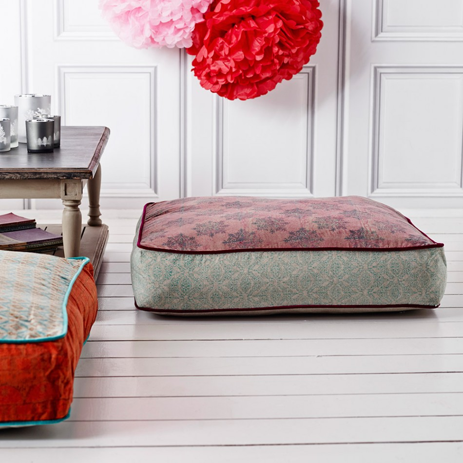 square floor cushion from graham and green
