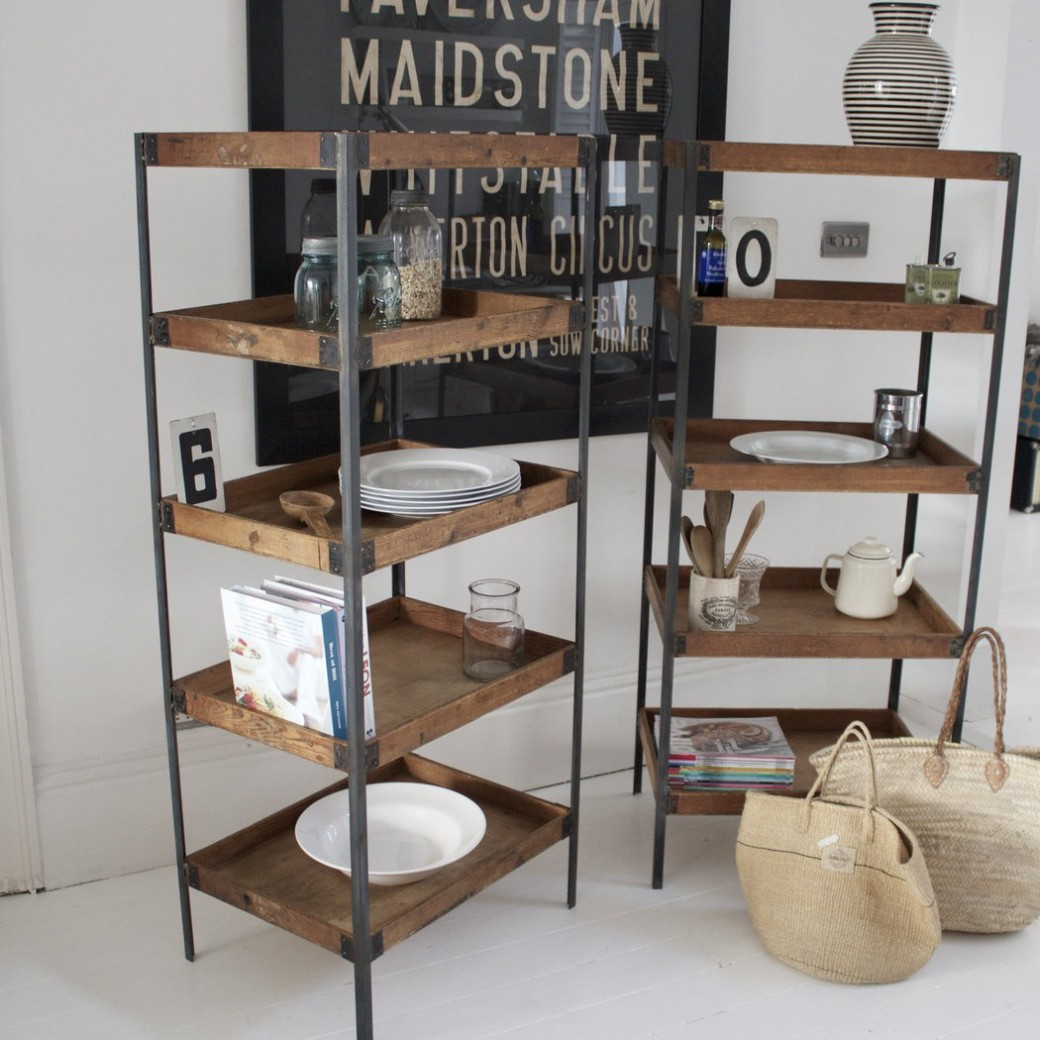 vintage industrial shelving from design vintage
