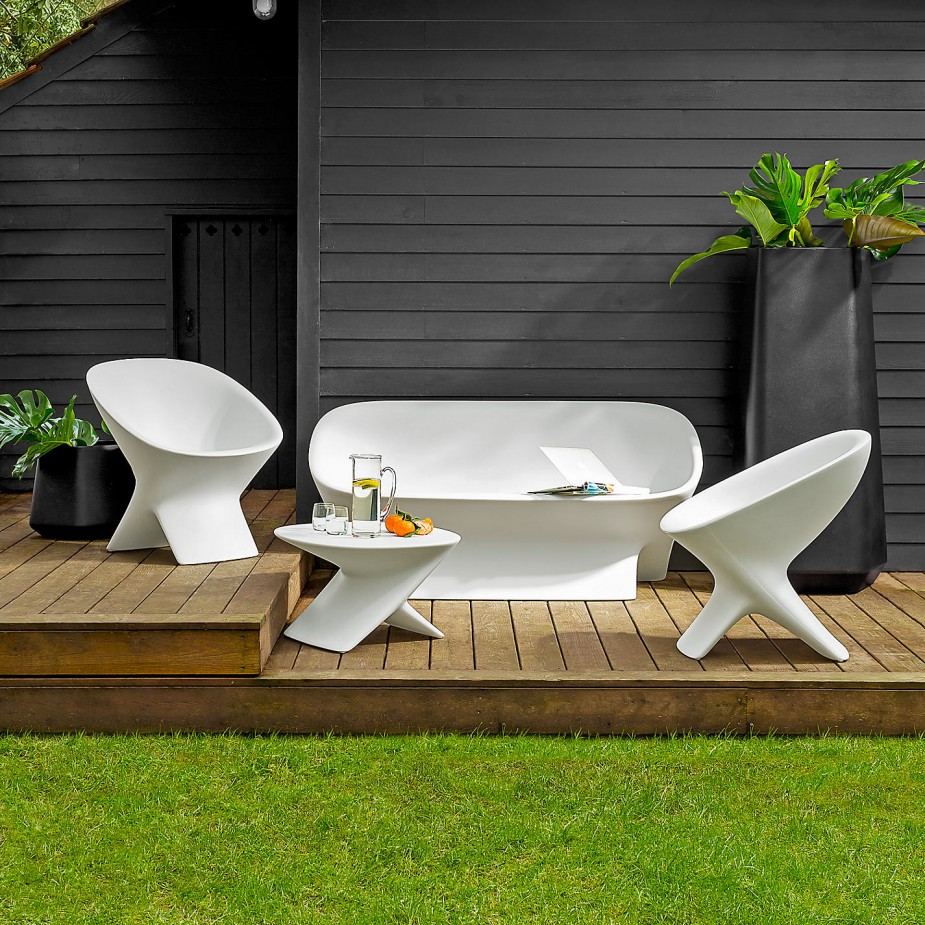 white garden furniture from john lewis