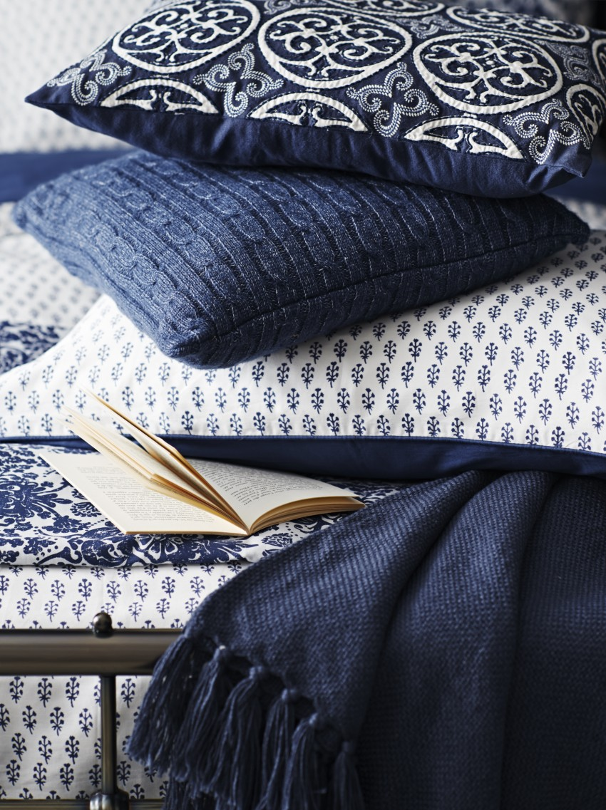 Indigo Bedroom Textiles