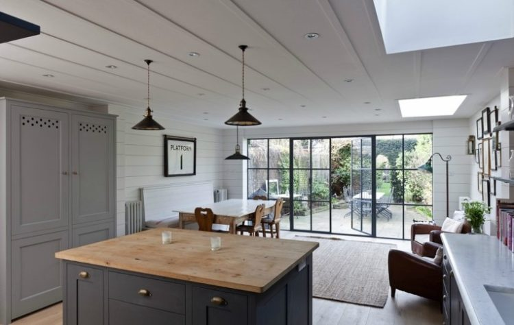 Abi Cambell's modern rustic kitchen