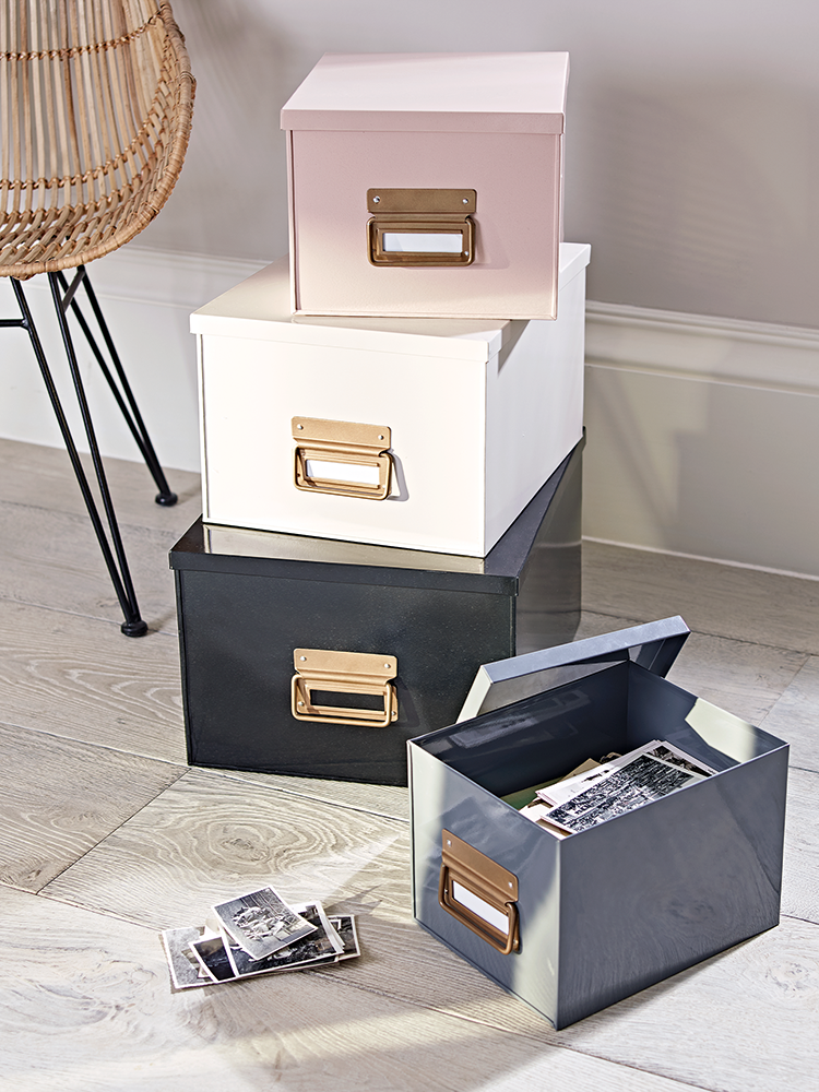 metal storage boxes from cox and cox