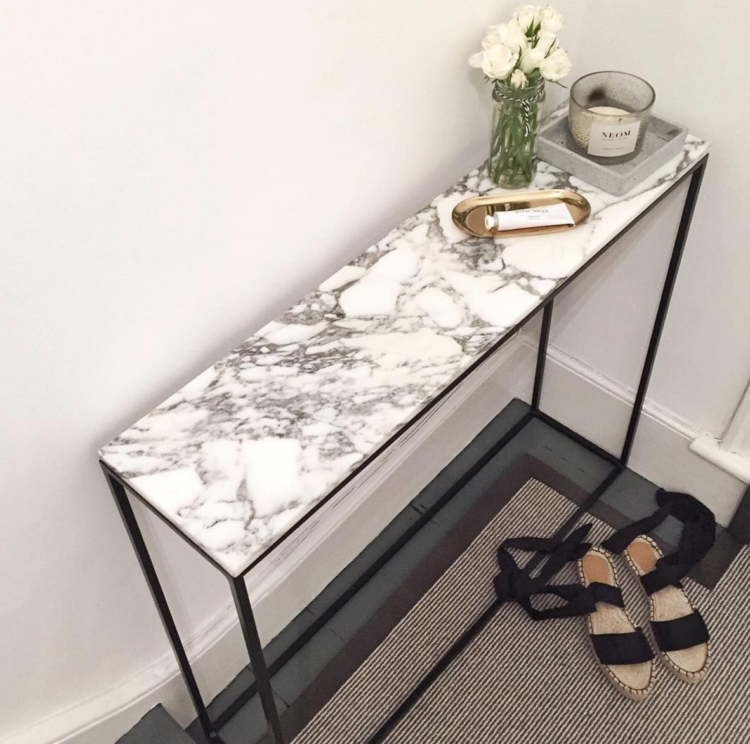 marble console table mad about the house. Black Bedroom Furniture Sets. Home Design Ideas