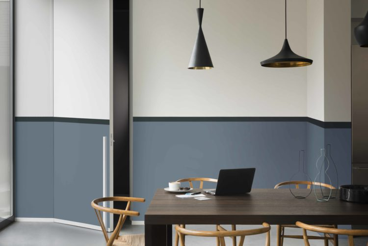 Dulux Colour Futures 17 - The Working Home - dining room - denim drift, black,