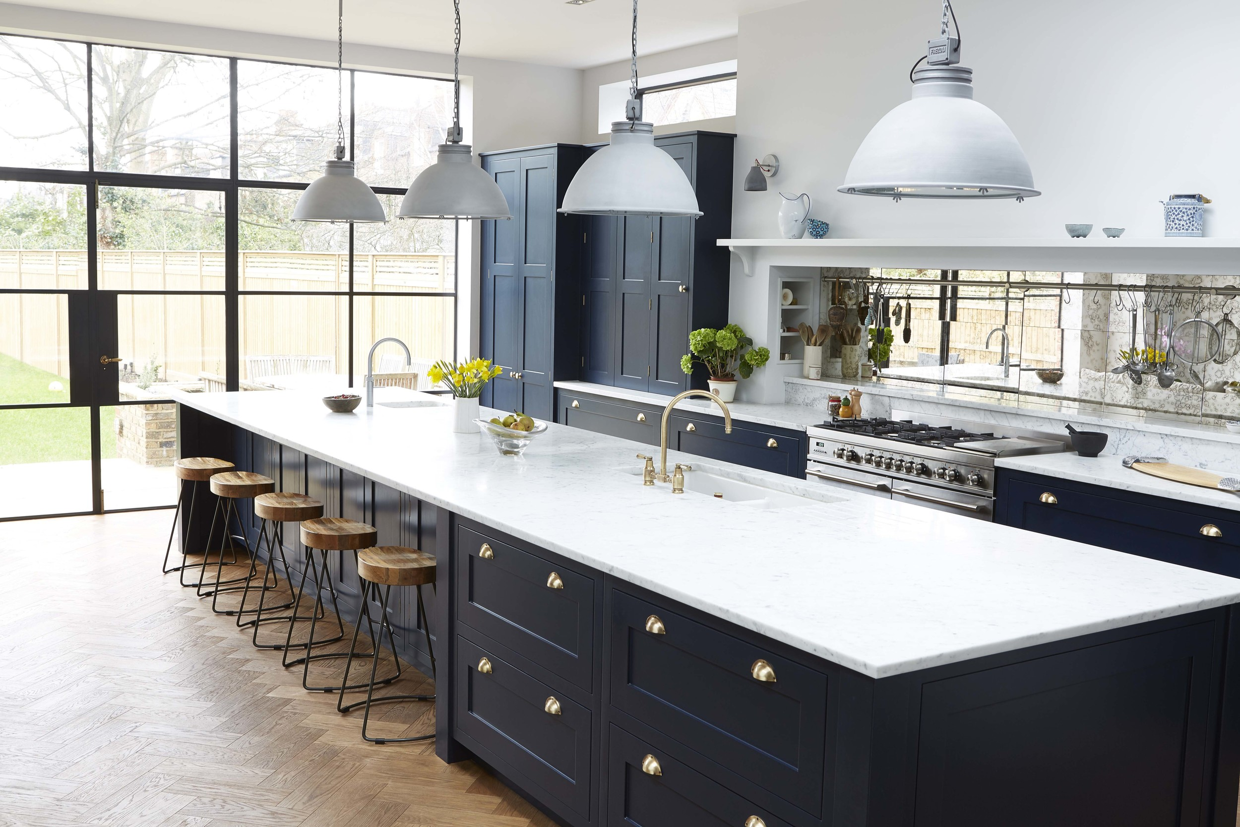 Navy Blue And Marble Kitchen By Blakes London Mad About The House