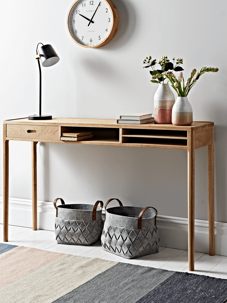 oak storage console table from cox and cox