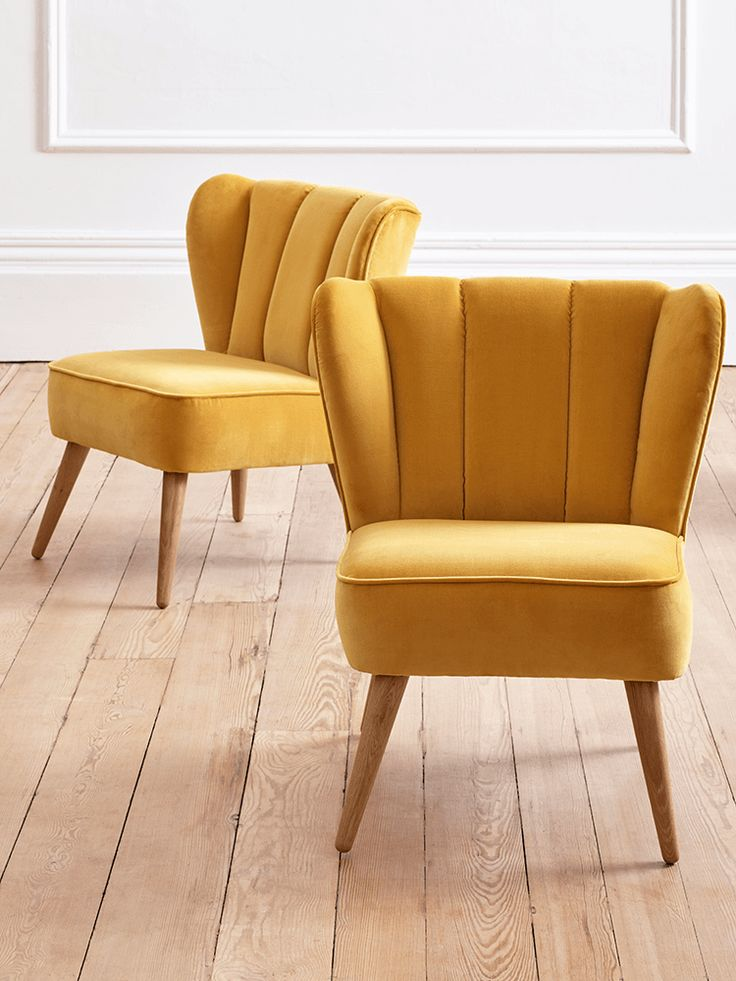 mustard velvet chair from cox and cox