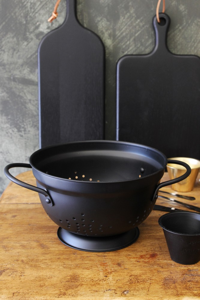 for the cook - a black colander with some amazing (squid ink?) pasta, some truffle oil and a great recipe book