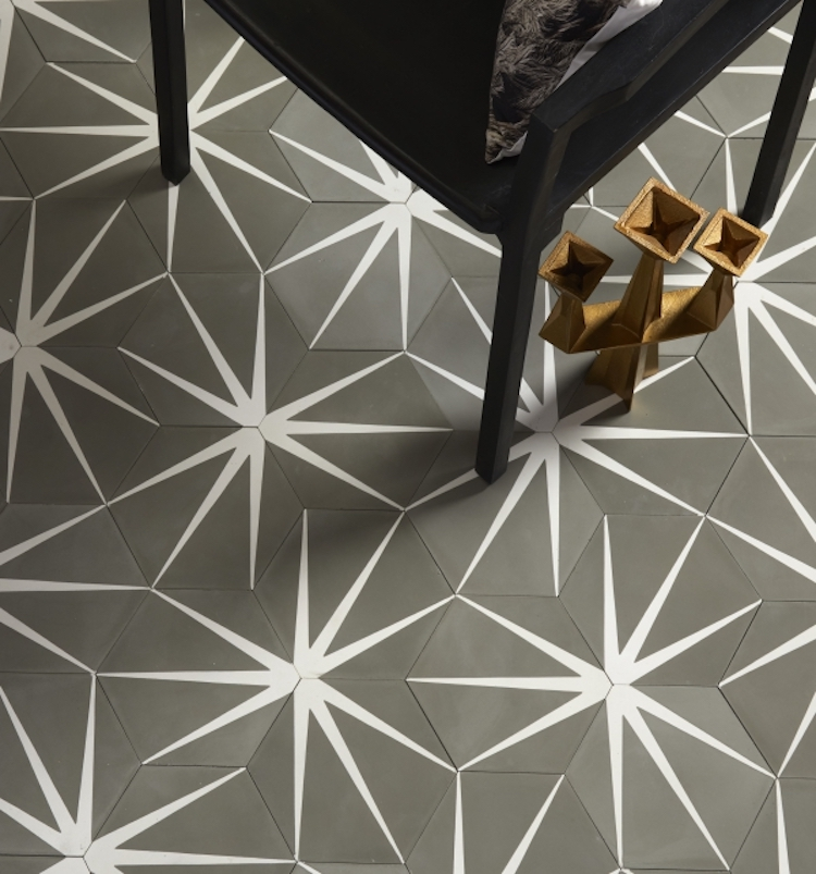 lilypad hex encaustic tile from ca pietra