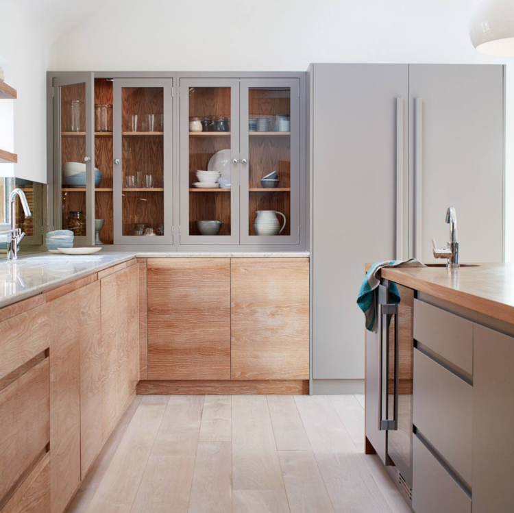 wooden cupboards by nakedkitchens