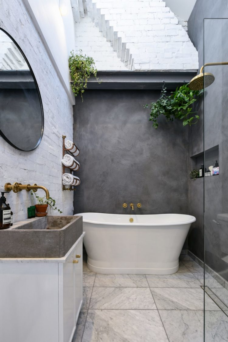 freestanding bath concrete wall via shootfactory