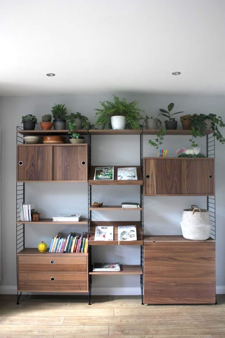 string shelving by nathalie aubry
