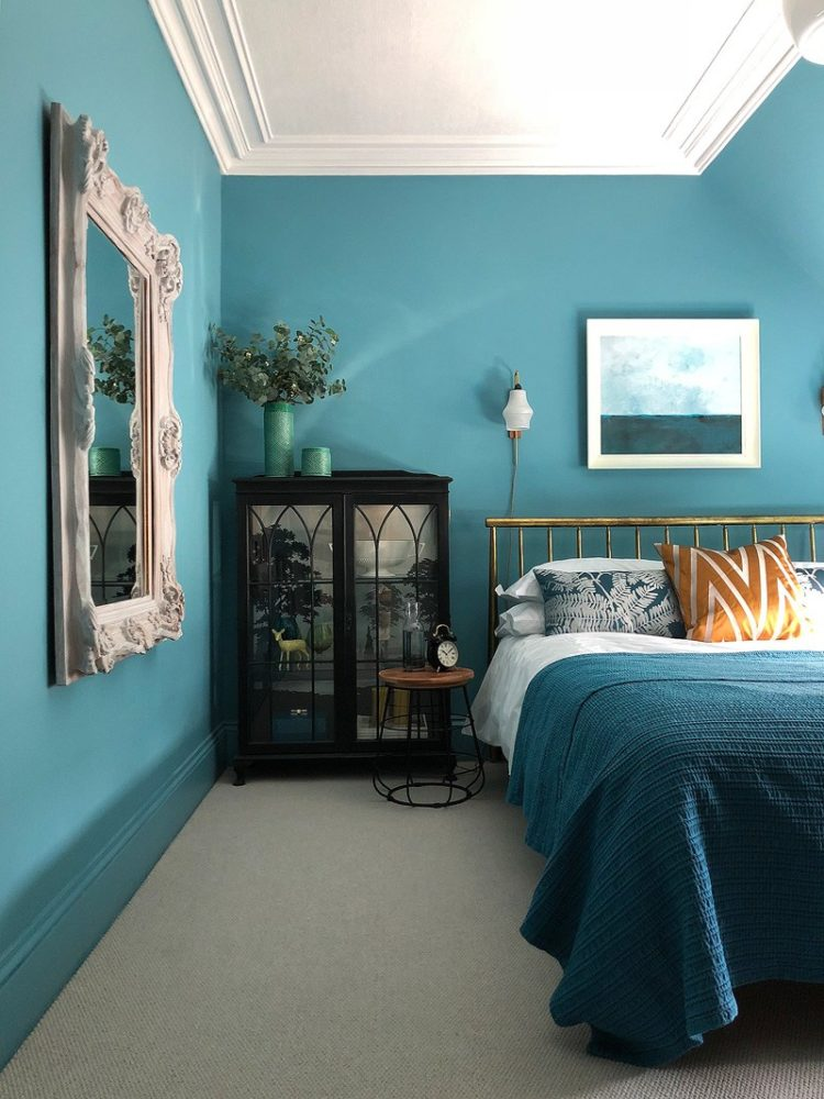 teal bedroom by designsixtynine for revamp restyle revea