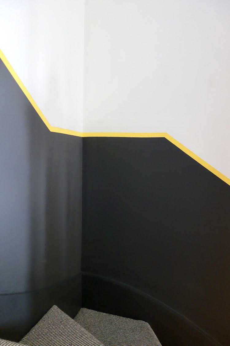 black and yellow half painted wall by Karen Knox