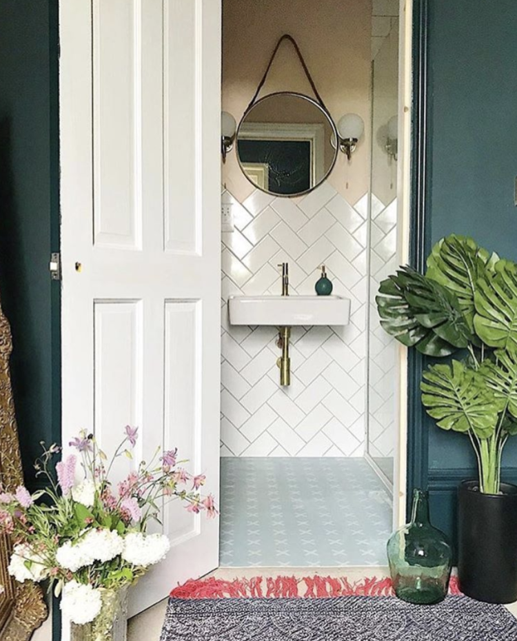 herringbone tiles via @ciaraelliott