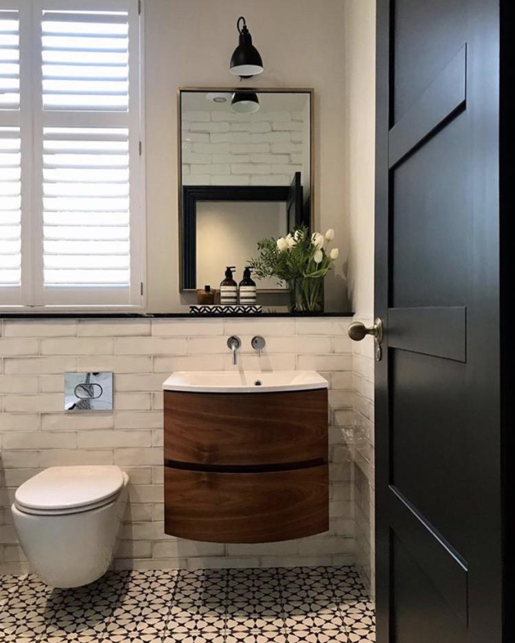 modern rustic bathroom by @design_at_nineteen