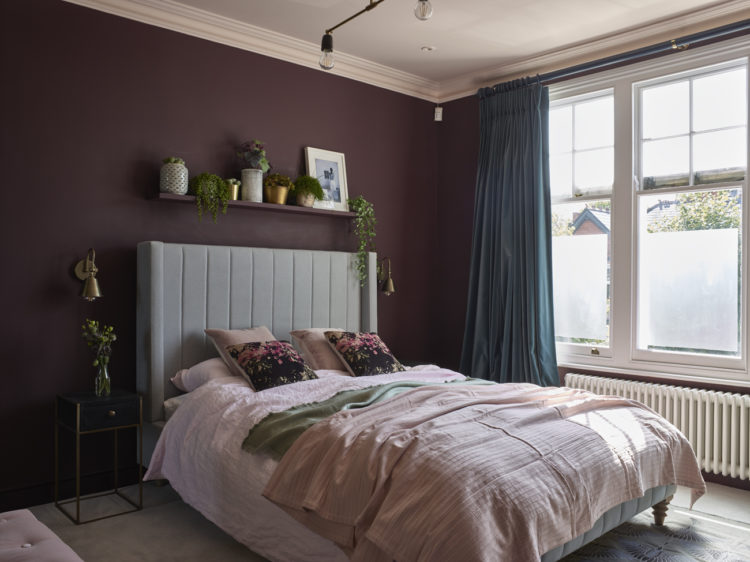 he burgundy room by em gurner of folds inside with its pink ceiling