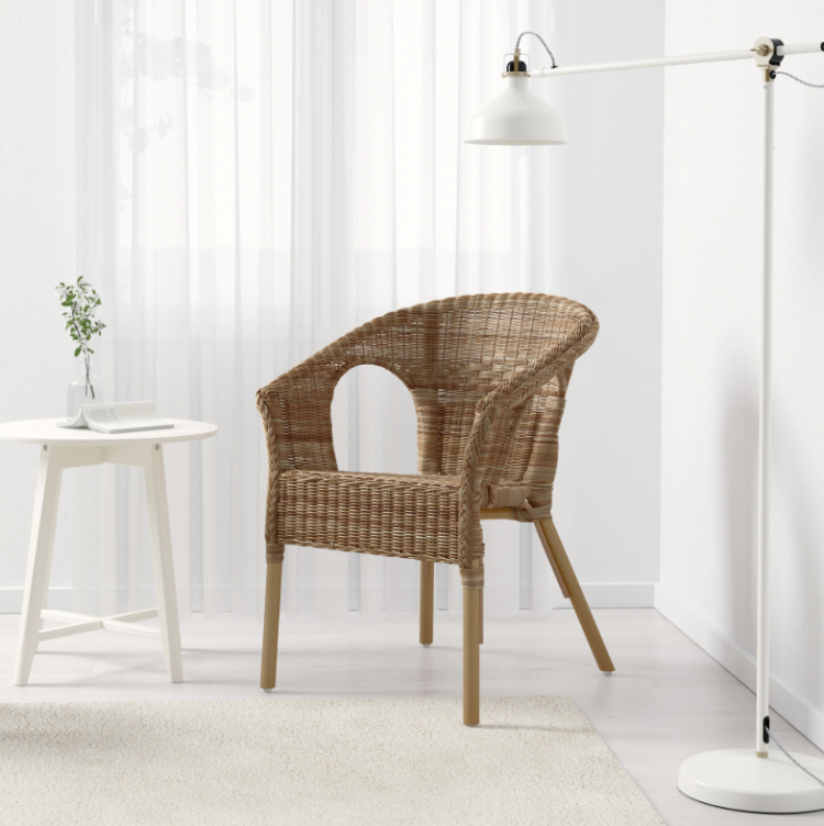 ikea agen bamboo and rattan chair £30
