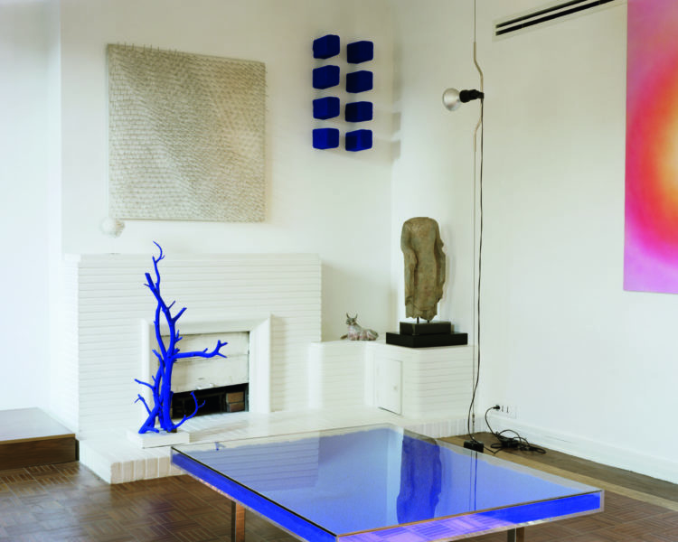 Yves Klein (designer and client), Klein Residence, living room, Paris, France, completed 1949. Picture credit: François Coquerel © Succession Yves Klein c/o DACS 2019