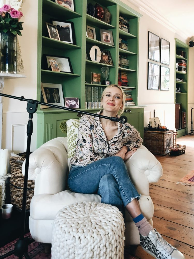 at home with Fearne Cotton for The Great Indoors Podcast