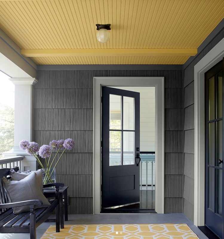 yellow ceiling (marblehead gold HC-11) by Benjamin Moore